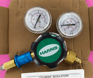 Harris Calorific 825 Gas Regulator Welding 825-4 N2 O2 Ar CO2 He N2O H2 C2H4