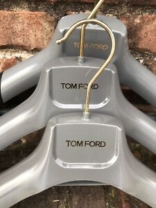 3 TOM FORD Suit/Jacket/Garment Signature Gray & Black Plastic Hangers 15 Inch