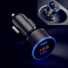 LED Digital Voltmeter Auto Zigarettenanzünder Steckdose 2 USB 3,1A KFZ Ladegerät