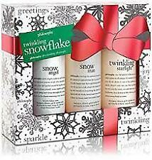 Philosophy Twinkling Snowflakes Set - 3pc