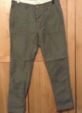 Men's Next Relaxed Fit Khaki Chino Trousers Waist 34 Leg 33
