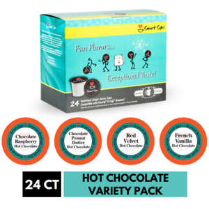 Hot Chocolate Variety Pack, 24 Ct. Single Serve Pods for Keurig K Cup Brewers