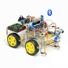 4WD Arduino Smart Car Bluetooth Control Learning Starter Kit Programmable Robot