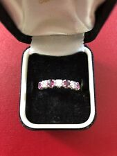 18ct Gold Ring With Rubies & Diamonds, Size O