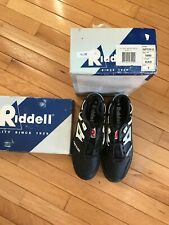 Riddell Rattler Low-height Baseball Shoes Turf Cleats Black Men's Size 8