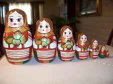 Autumn -russian nesting dolls-7 pcs,5.5'',new