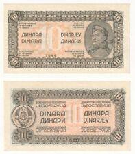 YUGOSLAVIA 10 Dinara Banknote (1944) P.50a - UNC.