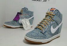 2014 Nike WMNS Dunk Sky Hi LIB QS Size 7 Wedges Blue Recall/Linen 529040-401