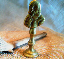 BRASS PIPE TAMPER – SHAKESPEARE BUST – BALUSTER FORM