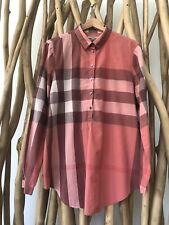 Burberry Brit Women's Xl Long Sleeve Button Front Shirt Striped