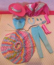 Vintage Barbie 1989 Cowgirl Cowboy Western Fun Fashion CLothes Boots Jewelry HAT
