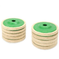 4 Inch Diameter Felt Polishing Green Wheel For Angle Grinder Rotary Tool 10Pcs