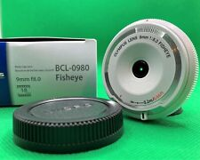 [N.Mint] Olympus BCL-0980 Fisheye 9mm F8.0 White Body Cap Lens From JAPAN #216