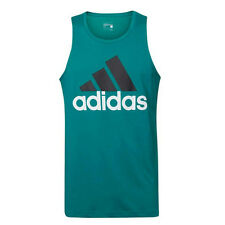 Adidas Sport Essentials Mens Green Climalite Gym Tank Top Ak1804 R1A
