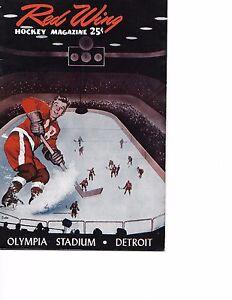 1956-57 Detroit Red Wings-Maple Leafs Program Wings Cruise Past Leafs BEAUTY!!