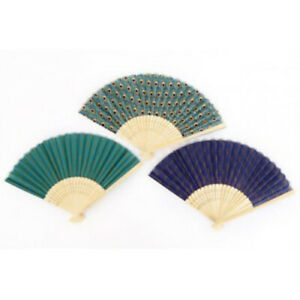 Peacock Green Blue Hand Held Fans Usable Modern Home Accessories Ladies Gifts