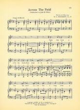 """OHIO STATE UNIVERSITY Vtg Song Sheet c1941 """"Across the Field"""" Original"""