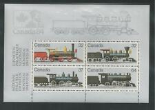 CANADA # 1039a MNH NATIONAL PHILATELIC EXPOSITION. LOCOMOTIVES Souvenir Sheet