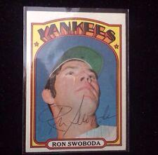 RON SWOBODA 1972 Topps Autographed Baseball Card JSA 8
