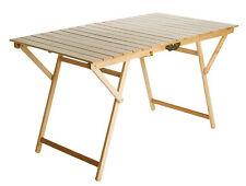 Maxi Tavolo pieghevole in legno naturale Super King cm 72x136 Valdomo-Valway