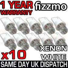 10x LED 501 W5W T10 PUSH WEDGE HID XENON WHITE SIDE LIGHT BULBS UK 1YR WARRANTY