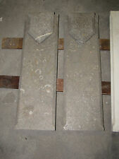 2 ANTIQUE VICTORIAN INCISED MULTI GREY MARBLE ARCHITECTURAL PARTS  6079