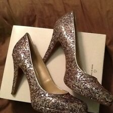 Nine West Metallic Pewter/Gold Shoes ~~size 8.5--very Elegant..brand NEW