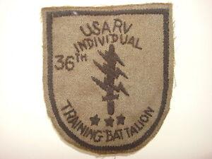 Vietnam Guerre Usarv 36th Individuels Entraînement Bataillon Main Cousu Attenué