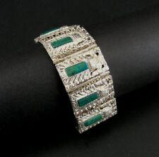 Heart Multi Color Stones Gold Vermeil over Sterling Silver 925 Pendant Necklace