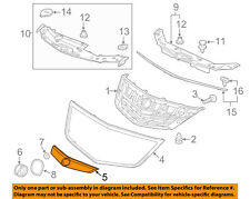 Acura HONDA OEM 11-14 TSX Grille Grill-Molding Trim or Surround 71123TL2A51