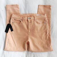 NWT Women's Rag & Bone High Rise Skinny Jeans Sz 31 Prairie Sun Peach MSRP $195