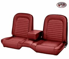 1964-1/2 -1965 Ford Mustang Red Front Bench Seat Upholstery, With Seat Foam