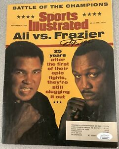 Joe Frazier Signed Sports Illustrated Mag Boxing Autograph JSA Ali 9/30/96