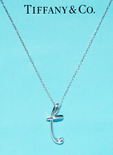 Tiffany & Co Elsa Peretti Alphabet Sterling Silver Letter Initial T Necklace