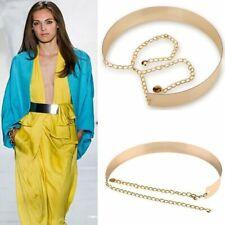 Cintura da donna in metallo Catene a fascia piena in oro massiccio