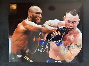KAMARU USMAN Autographed UFC GLOSSY 8x10 PHOTO ~KHABIB~