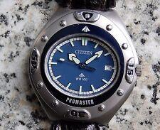 CITIZEN Promaster Blau Oval Ziffernblatt WR100 Vintage 41mm NOS Armbanduhr