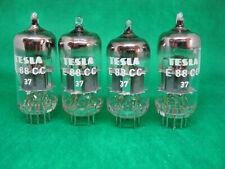 Matched quad TESLA  E88CC 6922 NOS tube valve valvola 6dj8 ecc88