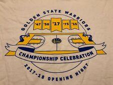 Shirt Championship Celebration Golden State Warriors 10/17/2017 Brand New SGA XL