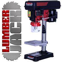 Lumberjack Bench Top 5 Speed Pillar Drill Press & Table Stand 13mm Chuck 240v
