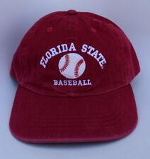 FSU SEMINOLES FLORIDA STATE BASEBALL Adjustable Strapback M/L Baseball Cap Hat