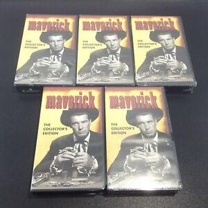 LOT 5 MAVERICK VHS Tapes (1993) The Collector's Edition James Garner Jack Kelly