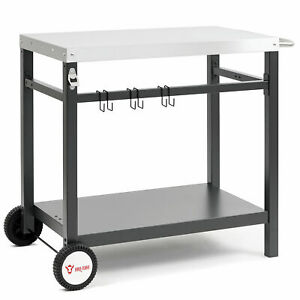 BBQ-Toro Grillwagen 85x50x81 cm  Beistelltisch   Rollwagen zum Grillen  *B-Ware*