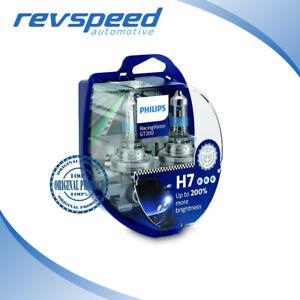 PHILIPS H7 Halogen Bulbs RacingVision GT200 +200% More Light Set of 2 bulbs NEW