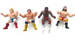 "Wrestling Thumb Figures Vintage 4"" Rubber 1980s Vintage Lot Of 4"