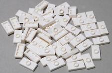 Lego - 50 x Convertisseur-Plaque 1x2 blanc/white jumper/15573 NEUF (l05)