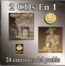 Martin y Malena 2CDs en 1 Con 24 Canciones del Pueblo CD New Nuevo Sealed