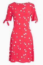 Next Retro Polka Dot Print Short Sleeve Summer Tea Dress UK 16