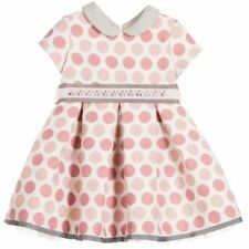 MONNALISA BEBE GIRLS PINK SPOT DRESS 36 MONTHS