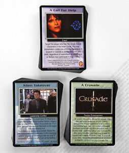 Babylon 5 CCG Crusade Complete Set of 41 Rare R2 Cards 50 Uncommon 50 Common M/N